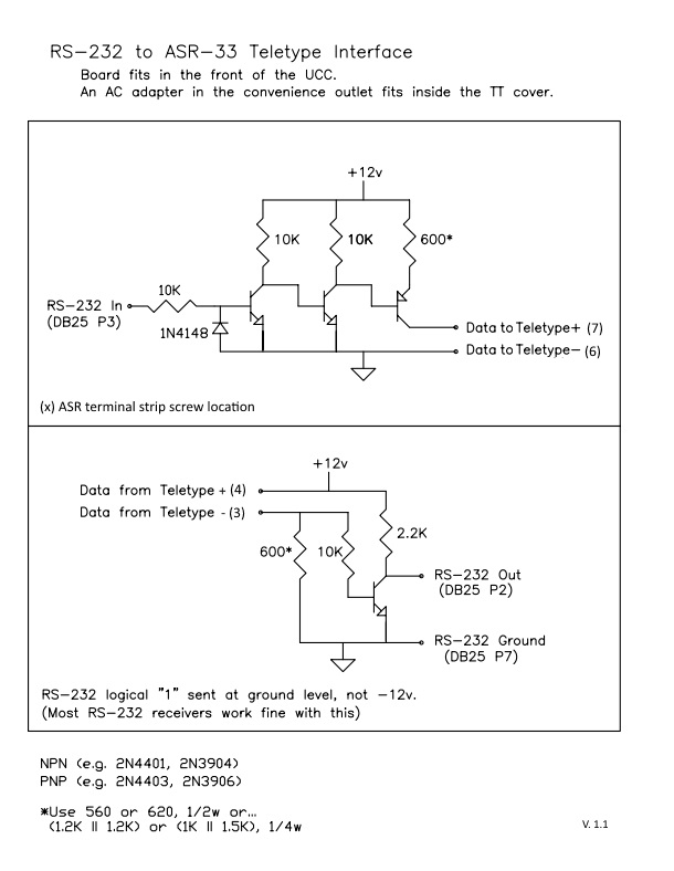 RS-232 to ASR-33 Teletype Interface Schematic v1.1.jpg